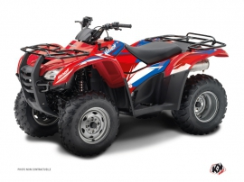 Honda Rancher 420 ATV Stage Graphic Kit Blue Red