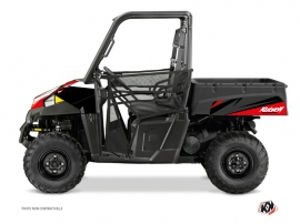 Polaris Ranger 570 UTV Stage Graphic Kit Black Red