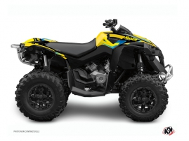 Can Am Renegade ATV Stage Graphic Kit Yellow Blue