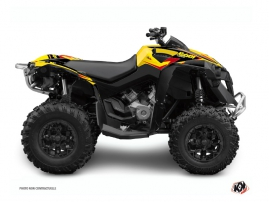 Can Am Renegade ATV Stage Graphic Kit Yellow Red