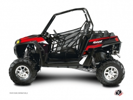 Polaris RZR 900 XP UTV Stage Graphic Kit Black Red
