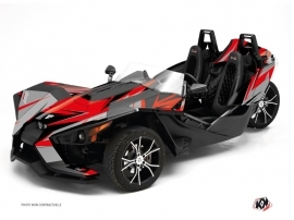 Kit Déco Hybride Stage Polaris Slingshot Gris Rouge