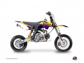 Kit Déco Moto Cross Stage YCF SP Jaune - Violet