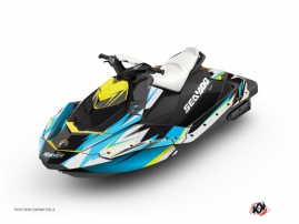 Seadoo Spark Jet-Ski Stage Graphic Kit Yellow Blue