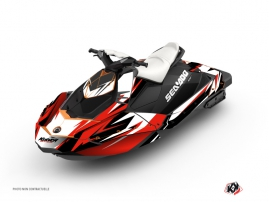 Seadoo Spark Jet-Ski Stage Graphic Kit Red Black