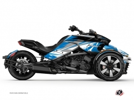 Can Am Spyder F3T Roadster Stage Graphic Kit Blue Grey