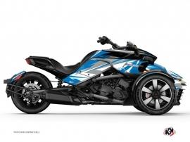 Kit Déco Hybride Stage Can Am Spyder F3 Limited Bleu Gris