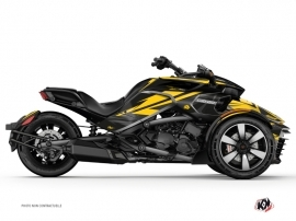 Can Am Spyder F3T Roadster Stage Graphic Kit Yellow