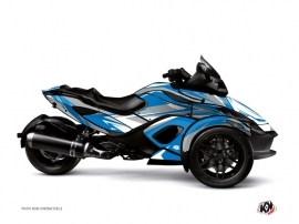 Can Am Spyder RT Roadster Stage Graphic Kit Blue Grey