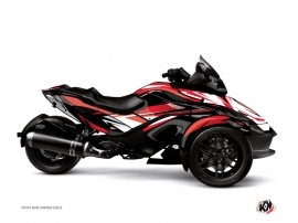 Can Am Spyder RS Roadster Stage Graphic Kit Red