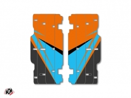 Kit Déco Grilles de radiateur Stage KTM SX-SXF 2015 Orange Bleu