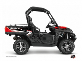 CF Moto U Force 800 UTV Stage Graphic Kit Black Red