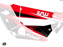 Kit Déco Portes Standard XRW Stage SSV Polaris RZR 900S/1000/Turbo 2015-2017 Noir Rouge