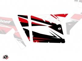 Kit Déco Portes Suicide XRW Stage SSV Polaris RZR 570/800/900 2008-2014 Noir Rouge