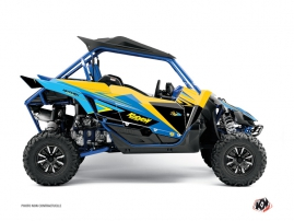 Yamaha YXZ 1000 R UTV Stage Graphic Kit Yellow Blue