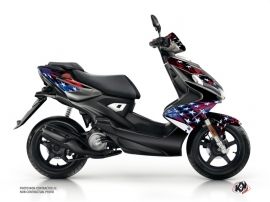 Yamaha Aerox Scooter Stars Graphic Kit Blue