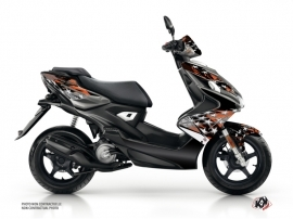 Yamaha Aerox Scooter Stars Graphic Kit Orange