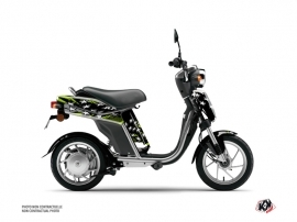 Yamaha Eco-3 Scooter Stars Graphic Kit Green