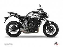 Kit Déco Moto Steel Yamaha MT 07 Noir Blanc