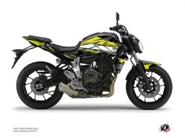 Yamaha MT 07 Street Bike Steel Graphic Kit Black Yellow