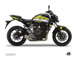 Kit Déco Moto Steel Yamaha MT 07 Noir Jaune