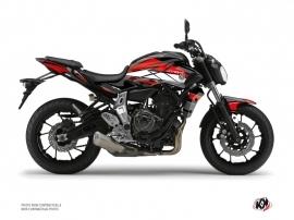 Kit Déco Moto Steel Yamaha MT 07 Noir Rouge
