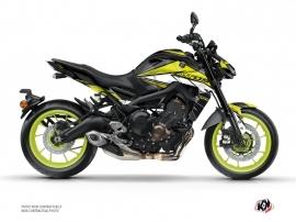 Kit Déco Moto Steel Yamaha MT 09 Noir Jaune
