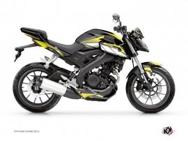 Kit Déco Moto Steel Yamaha MT 125 Noir Jaune