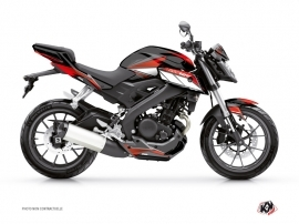 Kit Déco Moto Steel Yamaha MT 125 Noir Rouge