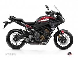 Kit Déco Moto Steel Yamaha TRACER 900 Noir Rouge
