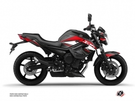 Yamaha XJ6 Street Bike Steel Graphic Kit Black Red