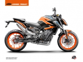 KTM Duke 790 Street Bike Storm Graphic Kit Orange Blue
