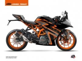 KTM 125 RC Street Bike Storm Graphic Kit Black Orange