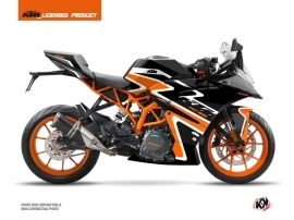KTM 125 RC Street Bike Storm Graphic Kit Orange Black
