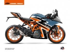 Kit Déco Moto Storm KTM 390 RC Orange Bleu