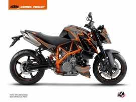 KTM Super Duke 990 Street Bike Storm Graphic Kit Black Orange