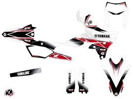 Yamaha 250 WRF Dirt Bike Stripe Graphic Kit Red