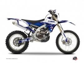 Kit Déco Moto Cross Stripe Yamaha 450 WRF Bleu Nuit