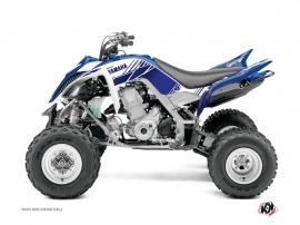 Kit Déco Quad Stripe Yamaha 700 Raptor Bleu Nuit