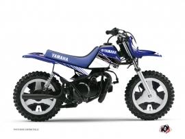 Kit Déco Moto Cross Stripe Yamaha PW 50 Bleu