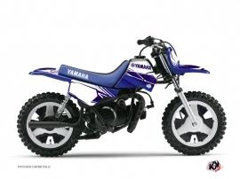 Kit Déco Moto Cross Stripe Yamaha PW 50 Bleu Nuit