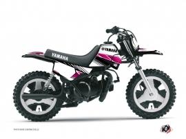 Kit Déco Moto Cross Stripe Yamaha PW 50 Rose