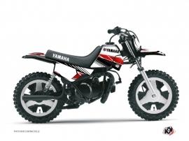 Kit Déco Moto Cross Stripe Yamaha PW 50 Rouge