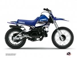 Kit Déco Moto Cross STRIPE Yamaha PW 80 Bleu