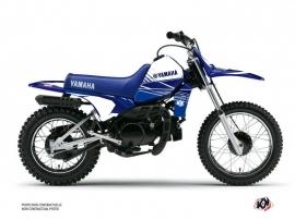 Kit Déco Moto Cross Stripe Yamaha PW 80 Bleu Nuit