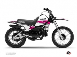 Kit Déco Moto Cross Stripe Yamaha PW 80 Rose