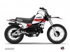 Kit Déco Moto Cross STRIPE Yamaha PW 80 Rouge