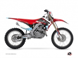 Honda 250 CRF Dirt Bike Stuff Graphic Kit Black Blue