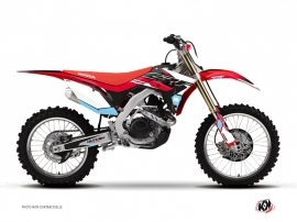 Honda 450 CRF Dirt Bike Stuff Graphic Kit Black Blue
