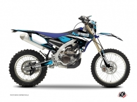 Yamaha 250 WRF Dirt Bike Techno Graphic Kit Blue